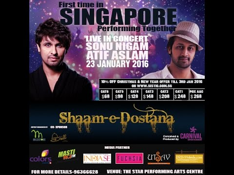 Saathiya By Sonu Nigam  In Atif Aslam Sonu Nigam Singapore Concert