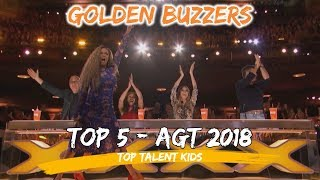 Americas Got Talent AGT Top 5 Kids Golden Buzzers 2018