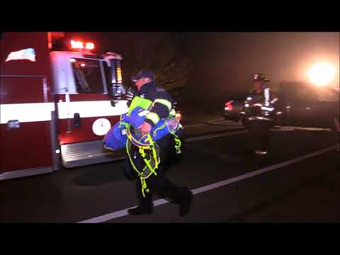 MAJOR HEAD ON CRASH IN COTUIT    One driver entrapped with head injuries    firefighters work to sav