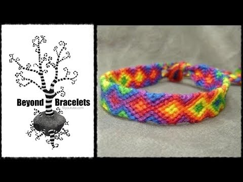 Chevron bracelet tutorial 3 colors