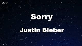 Download Lagu Sorry - Justin Bieber Karaoke 【With Guide Melody】 Instrumental Gratis STAFABAND
