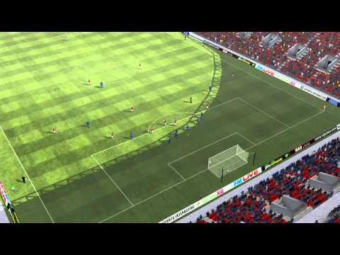 Arsenal vs Chelsea - Nasri Goal 45th minute