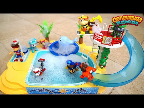 Paw Patrol Pool Time Bubble Bath with Genevieve!