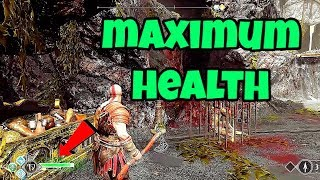 God of War 4 how to increase your maximum health