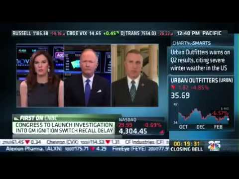 Rep. Murphy on Closing Bell Discussing GM Recall Hearings