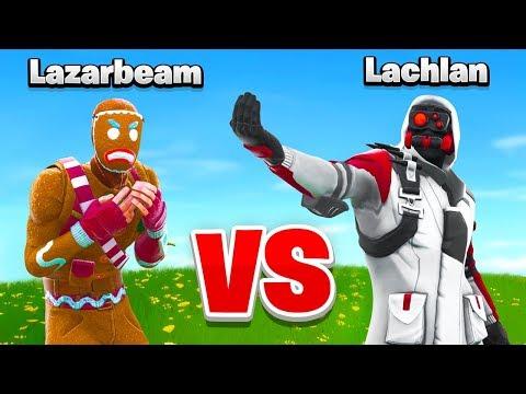 Lachlan VS Lazarbeam In Fortnite