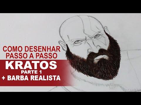 Como desenhar o Kratos - Parte 1 + Barba Realista