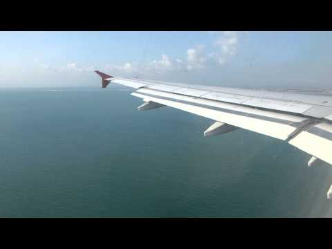 Famous Bali approach Runway 09 with Indonesia AirAsia A320 PK-AXD