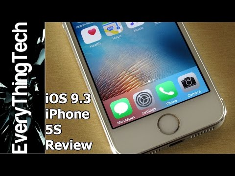 iPhone 5S iOS 9.3 Review