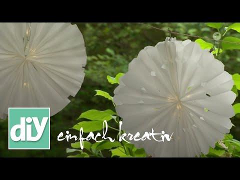 Papierlampions aus Butterbrottüten | DIY einfach kreativ