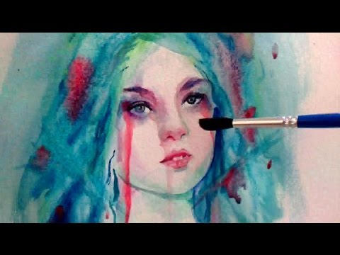 Watercolor portrait - Blood of the soul