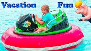 ASSISTANT Speedy Cars Fast Boats mazes and Gold Fun Family Vacation Video