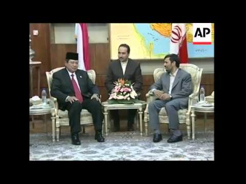 Indonesian president meets Ahmadinejad, comments