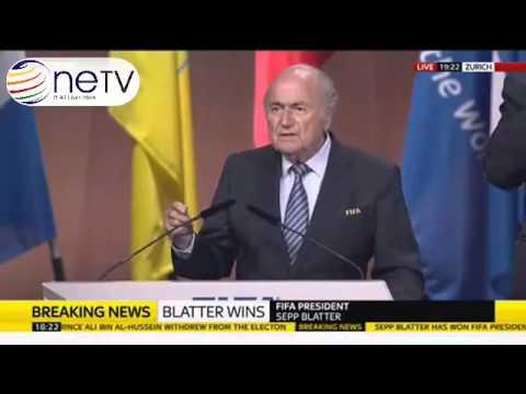 Sepp Blatter Wins Fifth Term As FIFA President   Full Speech