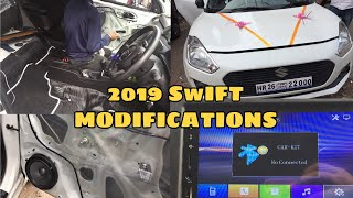 MARUTI SUZUKI SWIFT 2019  MODIFICATIONS | POWER WINDOWS INSTALLATION |CHEAP PRICE PROJECTER HEADLAMS