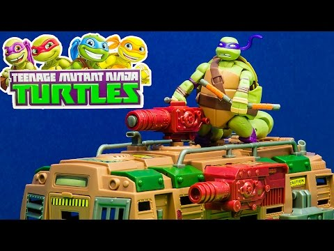 TEENAGE MUTANT NINJA TURTLE Nickelodeon TMNT Shellraiser Streetcar a TMNT Video Toy Review