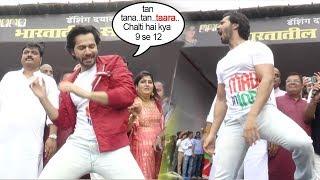 Varun Dhawan's Full MAD Dance At Dahi Handi/Janmashtami Pendal In Mumbai