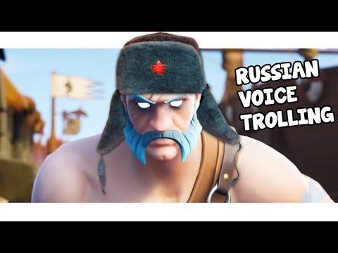 RUSSIAN Voice Trolling on FORTNITE!