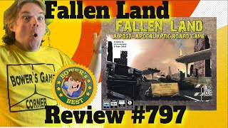 Bower's Game Corner: Fallen land: A Post Apocalyptic Board Game Review