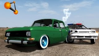 BeamNG.Drive Mod : Moskvich 2140 АЗЛК (Crash test)