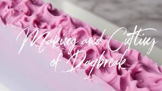 Daybreak Cold Process Soap | Ombre | Color Gradient | Making and Cutting