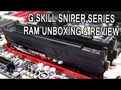 G.Skill Sniper 8GB DDR3 1600mhz Ram Unboxing & Review
