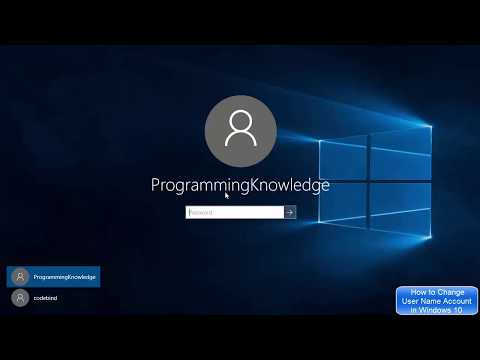 How to Change User Name of Account in Windows 10 | How to Change Your Account Name on Windows 10