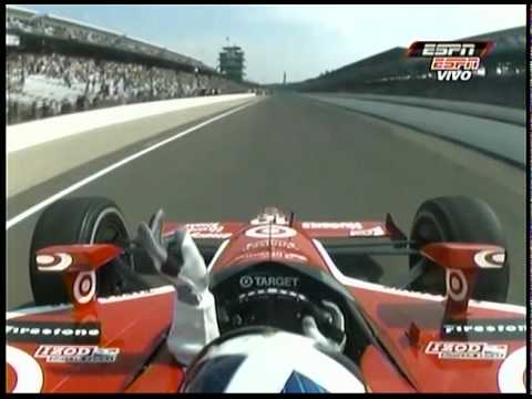 Last Laps and Mike Conway Big Crash - Indianapolis 500 2010 (Spanish)