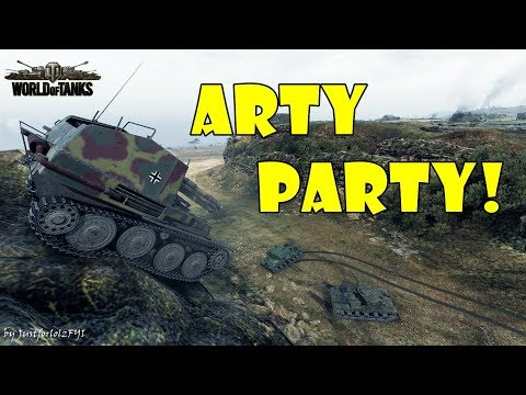 World of Tanks - Funny Moments   ARTY PARTY! #57