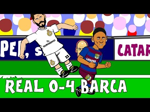 Real Madrid vs FC Barcelona 0-4 2015 - goals and highlights of El Clasico! (Parody 21.11.15)