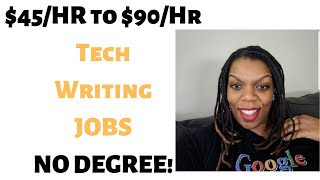 Working in Tech without a Degree. $45 - $95/per hour. No Degree