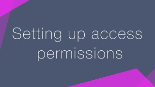 How to set up access permissions in bpm'online CRM