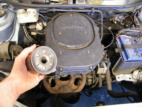 Fiat Punto: Oil and Oil Filter Change