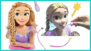 Đồ Chơi Trẻ Em - Búp Bê Công Chúa Tóc Dài Rapunzel - Bộ Trang Điểm Sơn Móng Tay Bằng Nước Cho Búp Bê