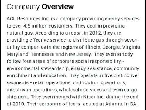 AGL Resources Inc Corporate Office Contact Information