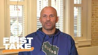 Jason Kidd talks Giannis Antetokounmpo talent and Eric Bledsoe trade   First Take   ESPN