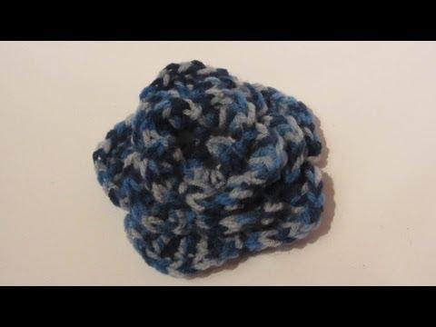Manualidades. Flor triple de ganchillo 1ª parte. Triple crochet flower.