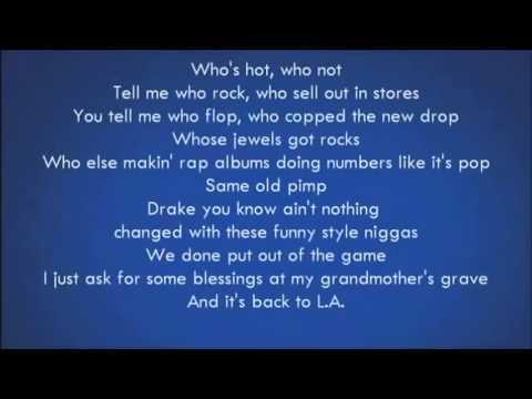 Drake - Worst Behavior Lyrics video