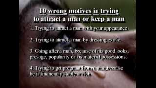 "A message to all women: ""About men"" - How to go about finding the right man."