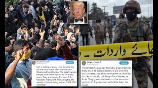 Trump goes after Iran and Pakistanon Twitter