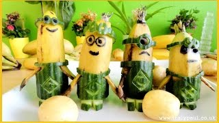 Minions Banana | Funny Minions | Art Of Fruit And Vegetable Carving Garnish
