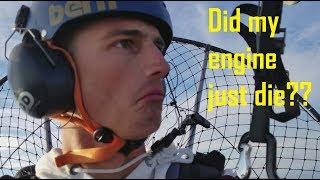 Paramotor Runs out of Fuel at 7,000 Feet!