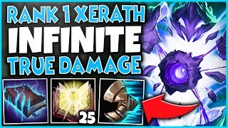 #1 XERATH WORLD INFINITE TRUE DAMAGE BUILD (EVERY SPELL NUKES) - League of Legends
