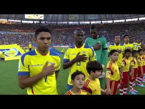 Ecuador vs France National Anthems FIFA 2014 World Cup Brazil