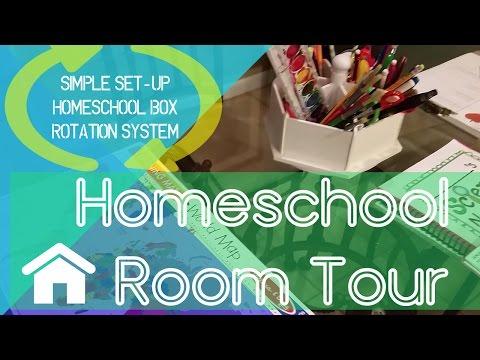 Homeschool Tour   Simple Set-up   Homeschool Box Rotation System