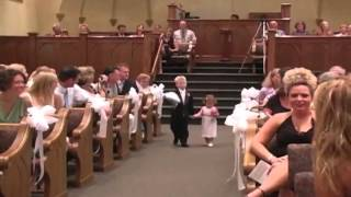 Funny children at the wedding