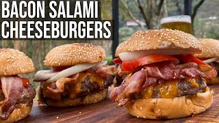 Bacon Salami Cheeseburger