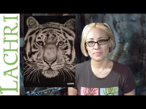 Critique your painting series - art tips w/ Lachri - graphite tiger