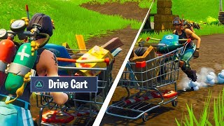 Riding shopping carts in Fortnite.. (New Vehicle)