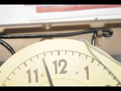 Synchronizing Test Western Union Self Winding Clock